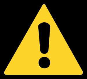 [Warning Icon]